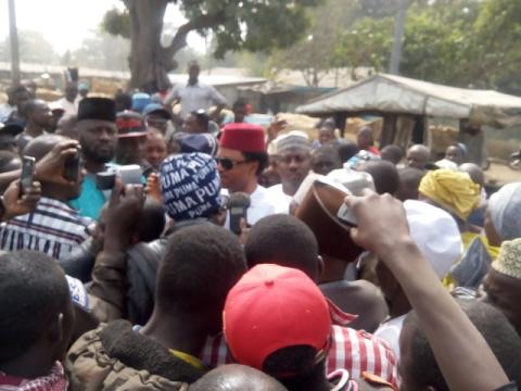 Nigerian Senator Assists Market Fire Victims With 1 Million Naira
