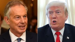 Tony Blair, Donald Trump