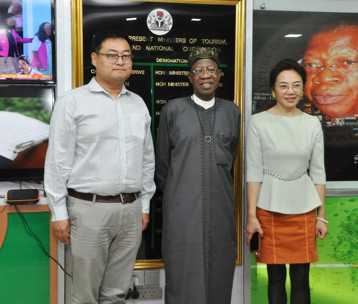 Mr. Lai Mohammed with Chinese investors