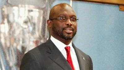 President George Weah of Liberia