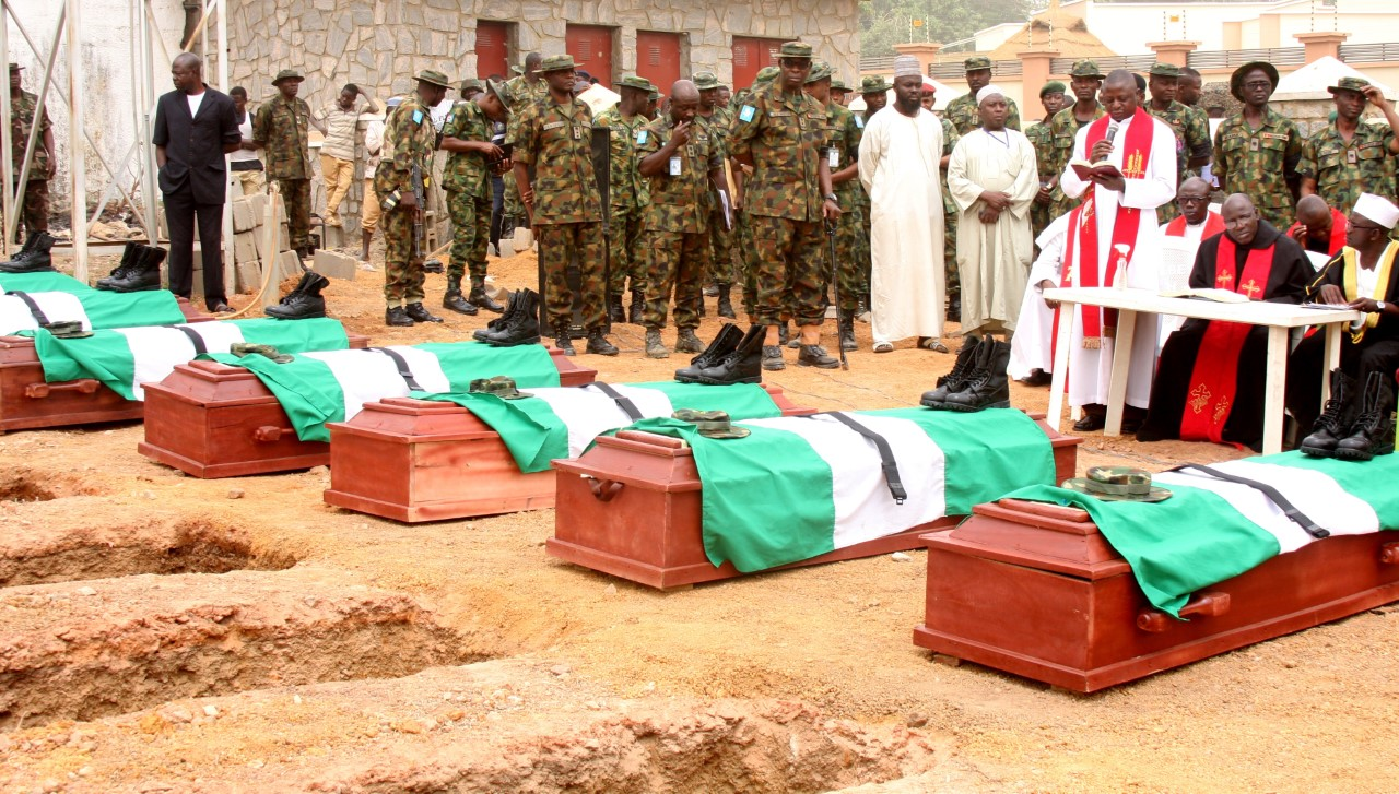 11 Nigerian Soldiers Killed By Bandits Buried ln Kaduna