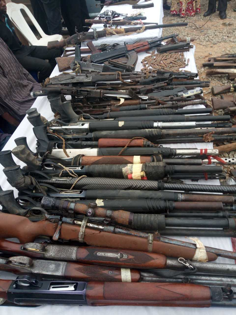 Police Recovers Large Arms, Ammunition In Northeast Nigeria
