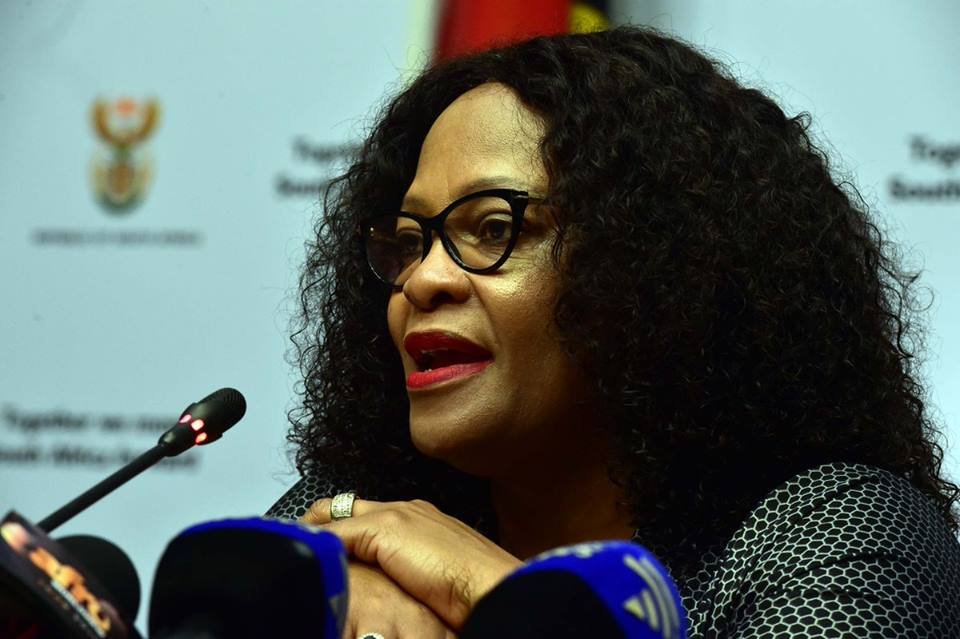 Communications Minister Nomvula Mokonyane