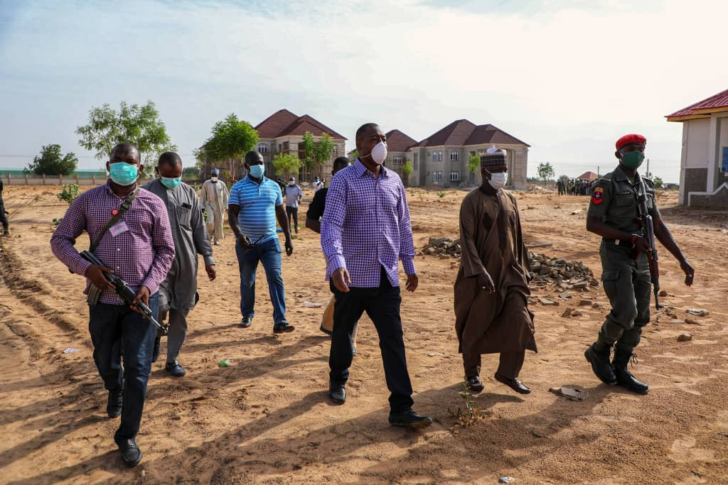 Zulum Establishes Governor's Outreach Office At Auno … Inspects 1,000 Housing Sites At Auno, Njimtilo