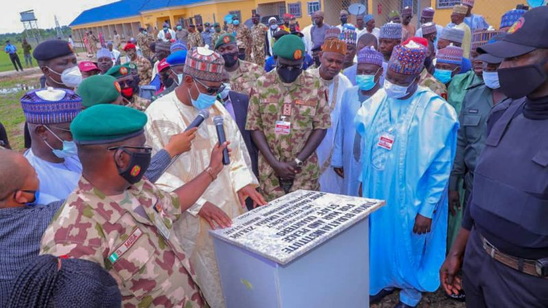 Zulum Commissions Army War Institute at COAS's Town Buratai