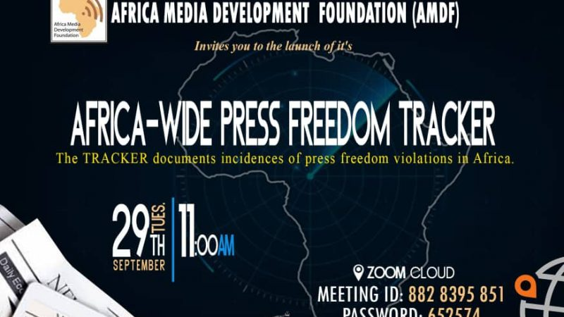 AMDF LAUNCHES AFRICA PRESS FREEDOM TRACKER