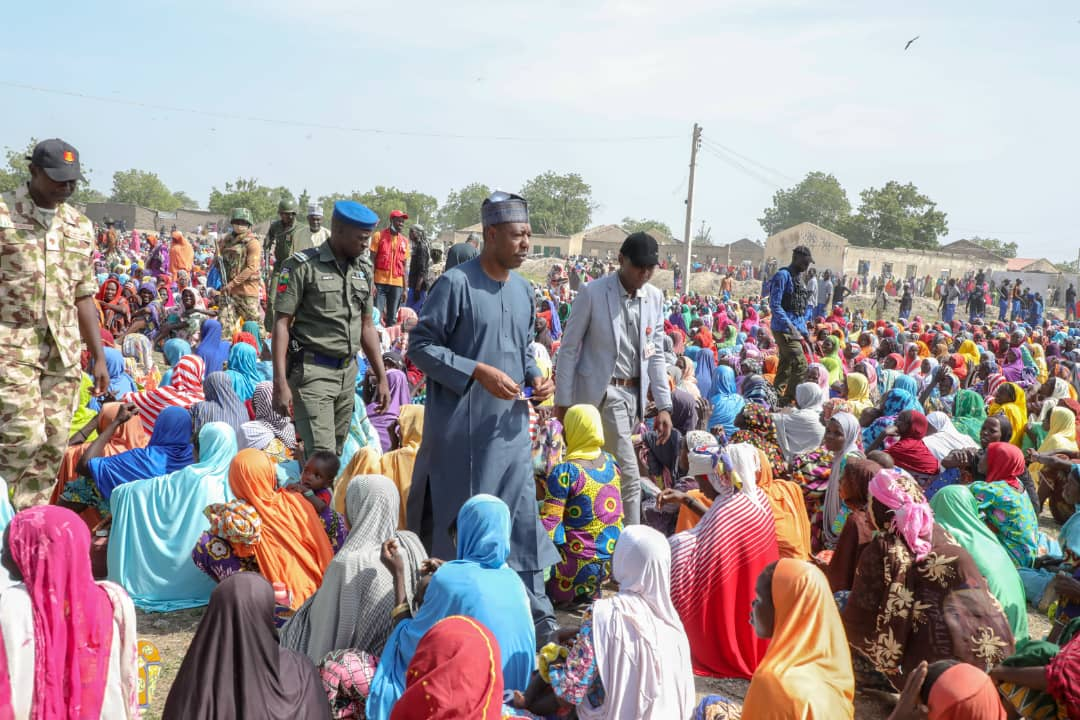 Zulum Back to Kala-Balge for 5th time, shares cash to 8,000 widows, others