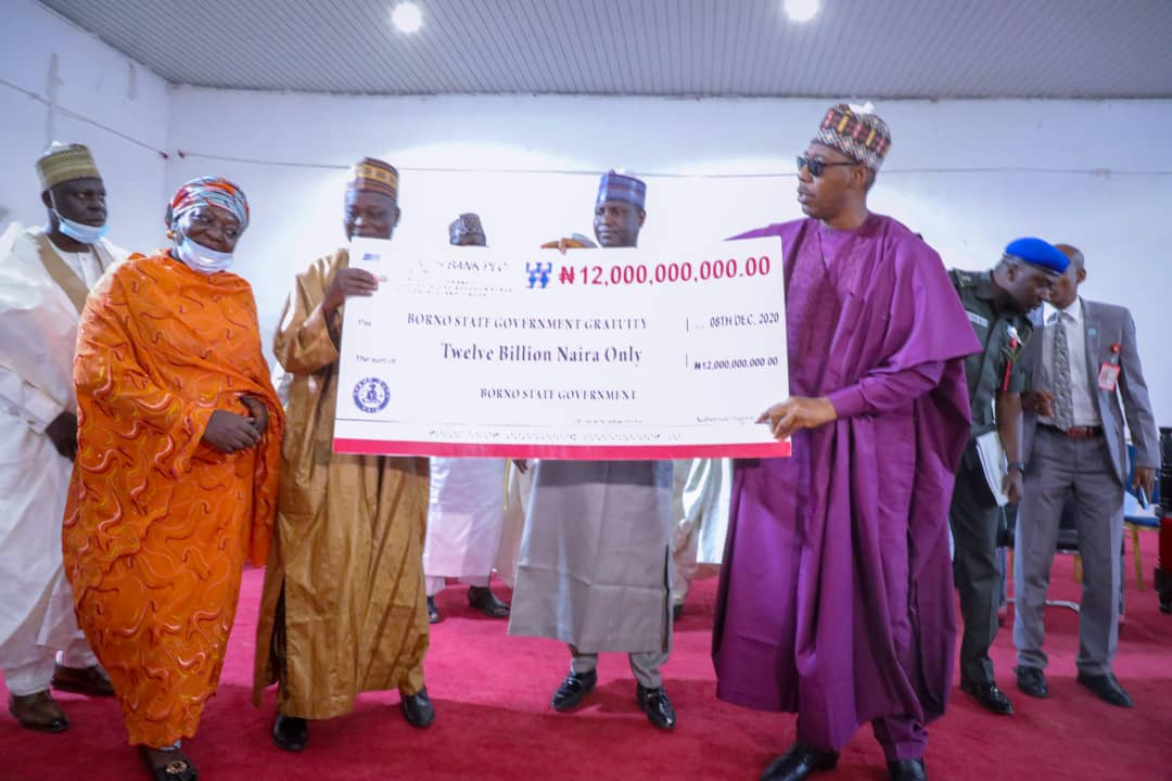 Gratuities: Zulum releases N12b to clear 4,862 unpaid retirees