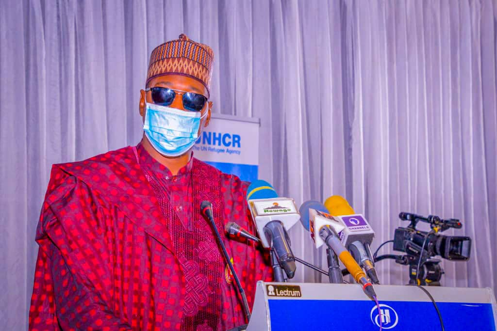 Zulum to UNHCR: Support in returning Borno residents taking refuge in Cameroon, Niger