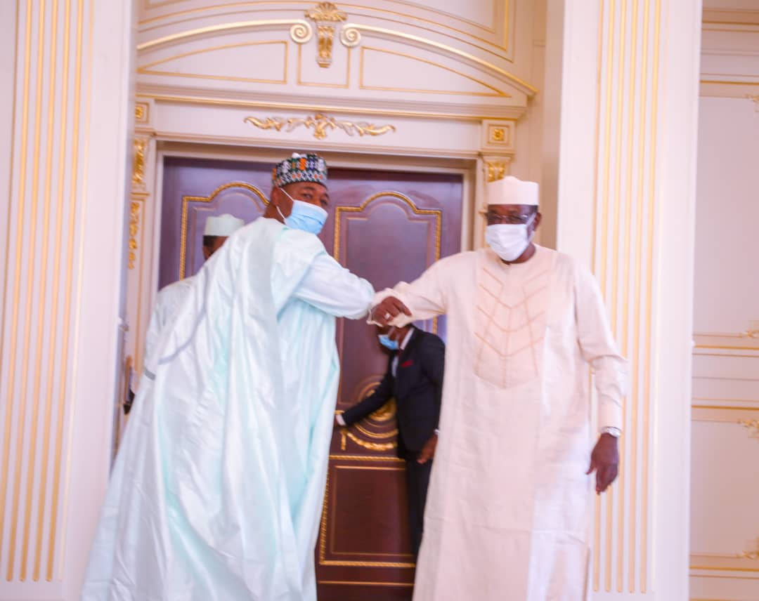 Zulum meets Chad's President Deby over thousands of Borno refugees